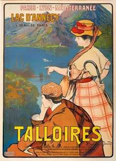 Talloires Lake Lac D'Annecy France French Travel Tourism X Fine Image Size Vintage Poster Reproduction Lyon, Lake Annecy, Italian Posters, Tourism Poster, Cities, Retro Poster, Ville France, Pub, Kunst Poster