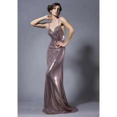 Superb Shinning Champagne Halter Full Dress Of Special Materials