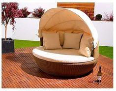 Garden Furniture Apple Pod rattan outdoor garden furniture apple daybed sofa brown oak