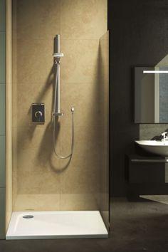 Grenzenloses Duschvergnügen. Das neue Ultra Flat Duschwannen-Programm besticht durch puristisches Design, mehr auf MakeYourHome.de
