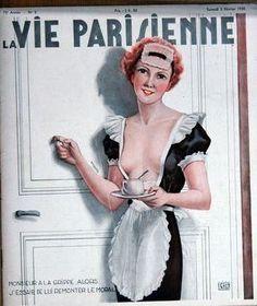 Georges Léonnec (1881 – 1940). La Vie Parisienne, 2 Février 1935. [Pinned 14-vi-2015]