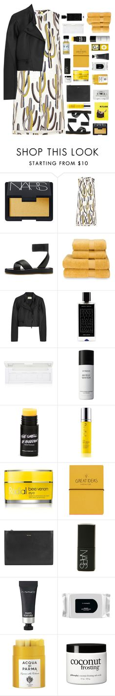 """""""Untitled #2295"""" by tacoxcat ❤ liked on Polyvore featuring NARS Cosmetics, rag & bone, Christy, Antonio Berardi, Agonist, shu uemura, Byredo, Rodial, Topshop and Paul Smith"""