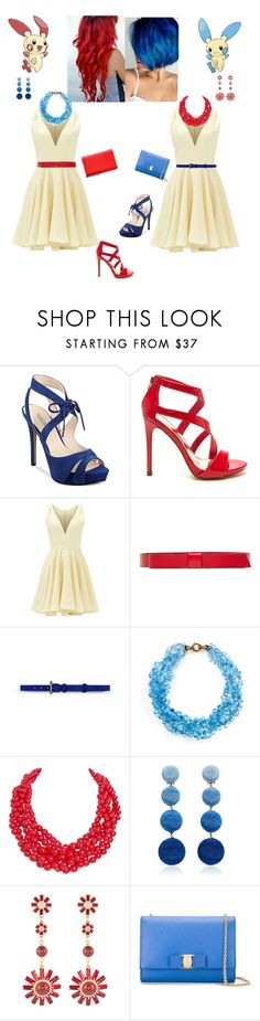 """""""Plusle & Minun"""" by jolteon-in-the-tardis ❤ liked on Polyvore featuring GUESS, Masquerade, Allison Parris, Marni, Barbara Bui, Humble Chic, Rebecca de Ravenel, Henri Bendel, Salvatore Ferragamo and Givenchy"""