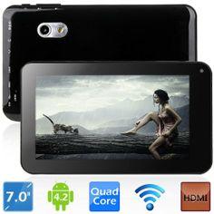"AplusElek 7"" Capacitive Screen Allwinner A20 Android 4.2.2 Dual-core Tablet PC w/ HDMI Dual Cameras OTG"