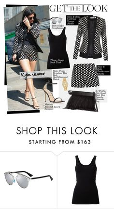 """Get the Look: Kylie Jenner"" by hamaly ❤ liked on Polyvore featuring sass & bide, Manolo Blahnik, 3.1 Phillip Lim, Christian Dior, Rolex, Theory, GetTheLook, StreetStyle, summerstyle and celebstyle"