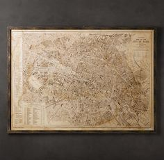if you like the look of a map covering a wall, you can by ones like these from Resto for about the same as you pay for a REAL map that is even cooler. So def do some research on line if you want this look.