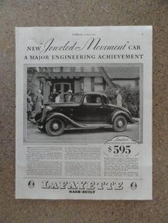 Print Ads, Poster Prints, Art Prints, Old Vintage Cars, Car Advertising, Print Magazine, Illustrators, Illustration Art, Necklaces
