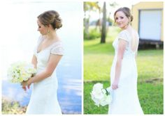 A beautiful lace, modern yet sweetly modest bridal gown at  Jewish Wedding featured on The Modern Jewish Wedding.com!