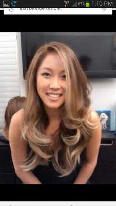 Trendy Hair Color Asian Blonde Haircuts - All For Hair Color Balayage Hair Color Asian, Blonde Asian Hair, Pretty Blonde Hair, Dark Blonde Hair Color, Blonde Ombre, Pearl Blonde, Ombre Hair, Ash Blonde, Hair Colour