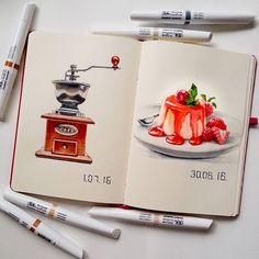 nadja leutloff watercolor artist pigment marker sketchbook