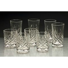 "Godinger Set Of 8 ""Dublin"" Double Old-Fashioned And Highballs, 2015 Amazon Top Rated Highball Glasses #Kitchen"