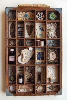 A Robin's Nest: Vintage Shadowbox