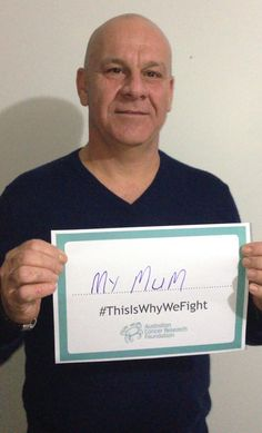 "ACRF supporter, Sandy, shares why he fights: ""This is for my mum who passed away from pancreatic cancer"" http://acrf.com.au/thisiswhywefight #ThisIsWhyWeFight #cancer #support #family #fightingcancer"