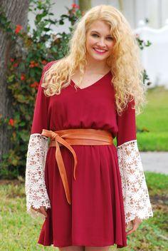 Be My Valentine Lace Sleeve Dress - JC's Boutique - www.SHOPJCB.com