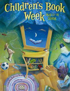 Official Children's Book Week poster, 2008, Mary GrandPre, (1954-Present)