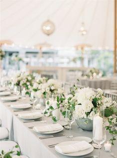 A Stylish and Effortlessly Glamorous Wedding Tucked Away on a Private Island Tent Wedding, Wedding Reception Decorations, Garden Wedding, Wedding Events, Wedding Ideas, Wedding Decor, Courtyard Wedding, Reception Ideas, Wedding Bells