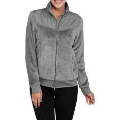 Athletic Works Women's Sport Fleece Jacket, Size: Large, Gray