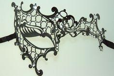 venetian style metal laser cut masquerade mask