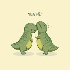 Dinosaur T-Shirt by Alan Bao. It's not easy for a tyrannosaurus rex to show affection but that doesn't mean they won't try. Cute Dinosaur, Dinosaur Art, Dinosaur Sketch, Wallpaper Iphone Cute, Cute Wallpapers, Hug Illustration, Dinosaur Illustration, Cute T Rex, Dinosaur Wallpaper