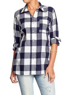Women's Plaid Flannel Boyfriend Shirts | Old Navy Red Buffalo ...