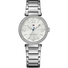 76df5967c624e5 Tommy Hilfiger Silver Dial Stainless Steel Bracelet Ladies Watch ( 170) ❤  liked on Polyvore