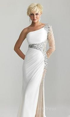 Elegant White Dresses - Fn Dress