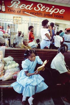 """""""I took this shot in Kingston Jamaica, at railway station in the early 1990s, shortly before taking a journey on the train across the island to Montego Bay."""""""