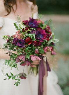Garden Wedding Inspiration in Berry tones