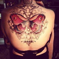 Butterfly Ornament Tattoo   #Tattoo, #Tattooed, #Tattoos