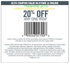 Ulta Coupons Ends of Coupon Promo Codes MAY 2020 !, store region in United Ulta as & in known a the it Salon, place this headqua. Ulta Coupon, Coupon Deals, Free Printable Coupons, Salon Services, Coupon Codes, How To Apply, Printables, Hot, November 2015