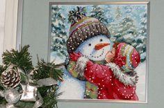 Мастерская настроения Nataly Kovalli: Dimensions Gold Mini 8833 A Kiss for Snowman / Поцелуй для снеговика