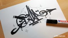 TADA Handstyle by Graffiti Empire #handstyle #graffiti #lettering