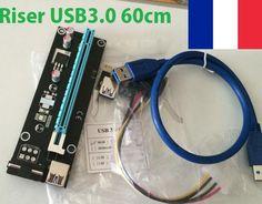 Riser PCIE USB 3.0 60cm - NEUF - Rizer USB - Raiser - Riser PCI Express in Informatique, réseaux, Ordinateur: composants, pièces, Carte mère: composant, access. | eBay