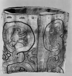 Reliquary purse. Silk. Red, green, white embroidery. Western Europe. c.1201-1300. Musée d'art Religieux et d'art Mosan.