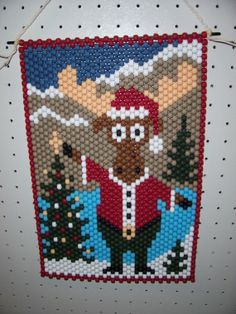 Christmas Moose Beaded Banner by CraftingAddiction on Etsy, $18.99