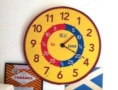 our kitchen clock - made to teach reading time  via @JakeTilson