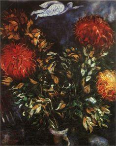 Chrysanthemums - Marc Chagall  Paris , 1926. Surrealism