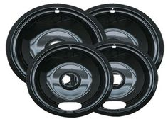 Range Kleen P10124XN Porcelain Universal Drip Pans Set Of 4 Containing 2 Units P101, P102, Black by Range Kleen. $19.48. From the Manufacturer                Style A Black Porcelain 4 Pack Universal Drip Pans 2 units each 6-Inch and 8-Inch Drip Pans                                    Product Description                4 Pack, Porcelain, Drip Pan 'A' Series, Set Consists Of: 2 Each 6' & 2 Each 8' Pans For Electric Ranges With Plug In Elements, Fits Most Including: ...