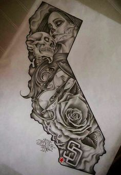 pattern tattoos meaning Chicano Tattoos, Kunst Tattoos, Skull Tattoos, Black Tattoos, Body Art Tattoos, Sleeve Tattoos, Gangster Tattoos, Tattoo Sketches, Tattoo Drawings