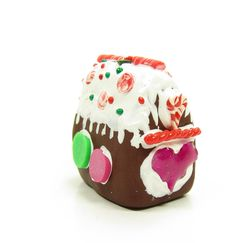 Miniature polymer clay Christmas gingerbread house