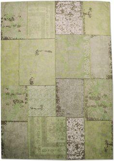 Patchwork vloerkleed groen - By Boo