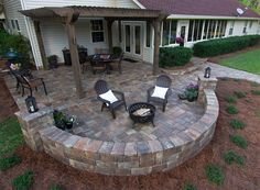 Mega Olde Towne pavers from Tremron are the perfect choice for a backyard patio renovation.