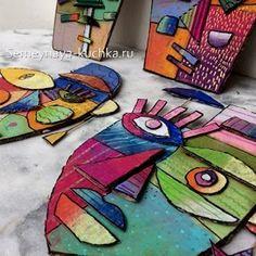 54 Поделки ИЗ КАРТОНА (идеи для педагогов и детей). | Семейная Кучка Club D'art, Art Club, School Art Projects, Projects For Kids, Group Art Projects, 3d Projects, Project Ideas, School Ideas, Kimmy Cantrell