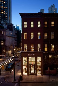 Objective: photograph architecture. Example: Hermes Mens Store in NYC