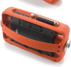 Emergency radio with clean yet rugged styling