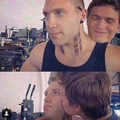 Jai Courtney and Ansel Elgort :)
