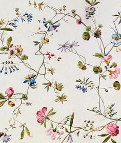 Vintage flowers pattern wallpaper textile design ideas for 2019
