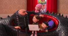 This holiday, enjoy some dysfunctional family fun with Despicable Me Actor Steve Carell voices Gru, the villain-turned-dad who has a very unique parenting style. Steve Carell, Agnes Despicable Me, Orphan Girl, Back In The Game, Film Review, Universal Pictures, Foster Care, The Villain, Box Office
