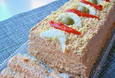 Receta Costarricense de Pastel de Atun con Pan Cuadrado