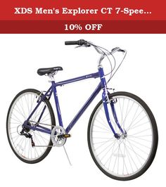 XDS Men's Explorer CT 7-Speed 20-Inch Road Bicycle, Blue. The XDS Explorer CT is ultra-lightweight, comfortable, and fast. With an aluminum frame, Shimano 6-speed, and 700c wheel-set, it can take you to the park or 20 miles to the next city and get you there quick and comfortable. It's geometry and handlebars keep your back upright while the comfort saddle saves your rump.
